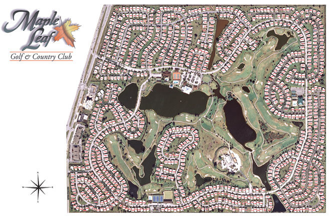 Street Map Port Charlotte Florida.Park Map Maple Leaf Golf And Country Club