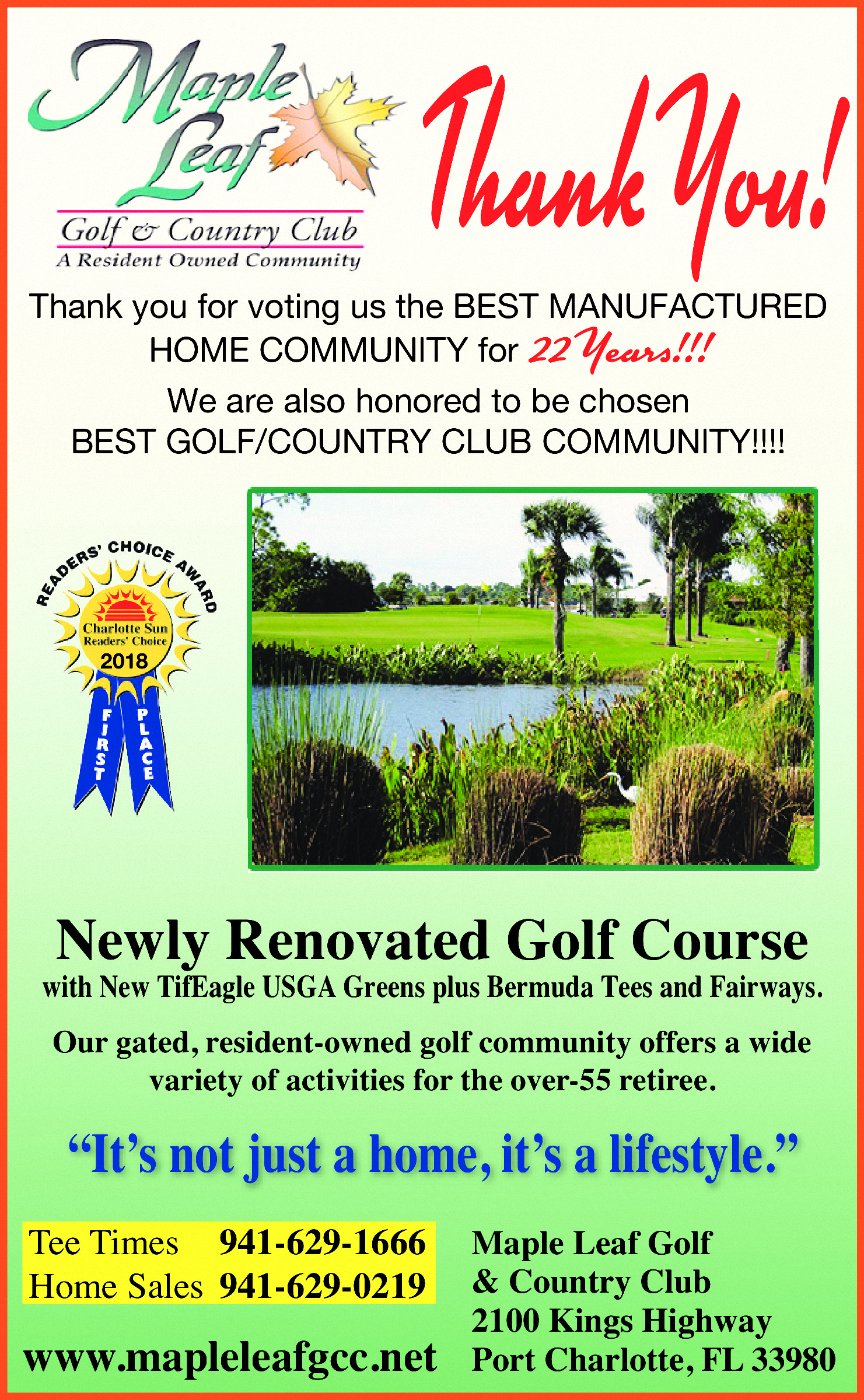 Our Park Overview | Maple Leaf Golf and Country Club